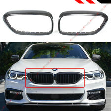 FOR 17-2020 BMW G30 5 SERIES F90 M5 CARBON FIBER KIDNEY GRILL INSERT TRIM COVER