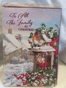 To All The Family At Christmas Card / Christmas Cards To All The Family 4 Styles