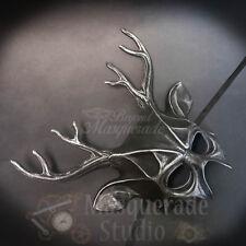 Deer Haunted  Animal Spirit Wall Decoration Halloween Masquerade Mask [Silver]