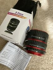 Metal Auto Focus Macro Extension Lens Adapter Tube Rings Set for Canon EOS EF