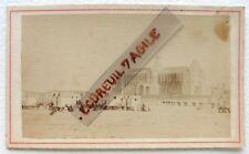 CDV PHOTO albumen DUNKERQUE plage chariot des bains de mer 1865 E853