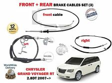 FOR CHRYSLER GRAND VOYAGER 2.8D 2007-> FRONT + REAR LEFT RIGHT HAND BRAKE CABLES