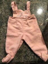 Vintage 1962 Mattel Chatty Baby Doll Bib Overall Pink Flannel