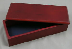 High-End Pen Box - Mahogany Wood w/Blue Interior Pen Box - 1 BOX