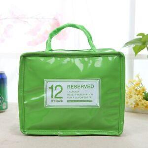 Insulated Lunch Bag Aluminum Foil Thermal Cooler Picnic Food Box Tote Handbag