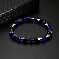 Woman Man Bracelet Chain Spot Healing Magnetic Therapy Stretch Stone Beaded