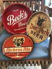 3 beer trays Beck's, Deer Park, Dickens Ale Buffalo, Syracuse & Port Jervis