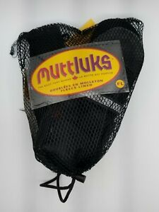 Muttluks water resistant leather boots for dogs size L black with reflective