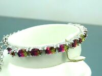 Turkish Handmade Jewelry 925 Sterling Silver Tourmaline Stone Women Bracelet