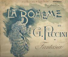 Spartito La Bohème di Giacomo Puccini Fantasia per Mandolino e Piano 1897