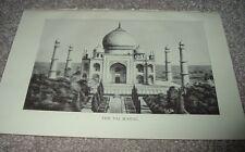 1919 THE TAJ MAHAL Mausoleum South Bank Yamuna River Agra India Print