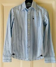 Abercrombie & Fitch  Long Sleeved  Boy's Shirt - Blue White Striped