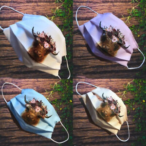 Face mask Double Layered Highland cow,Llama,Hedgehog Sloth Giraffe posted 1 day
