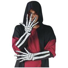 Skeleton Bone Hand & Wrist Gloves Costume Accessory Adult Halloween