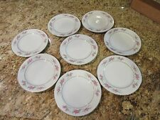 "Pagent by Diamond China  ~ Dessert Plates 6 3/8"" ~ Made in Japan Set of 8"