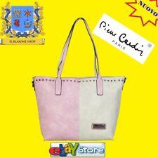 Borsa Donna Pierre Cardin Bicolore Rosa/Avorio shopper fashion mano spalla..