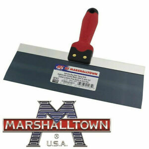 MARSHALL TOWN KNIFE, TAPING 200 MM X 76 MM BLUE STEEL BLADE SOFT GRIP HANDEL
