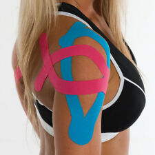 Pink Sports Muscle Tape Elastic Kinesiology Physio Rolls Strain Injury Support