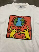Vintage 90's Keith Haring Pop Shop Tee Size XL Single Stitch