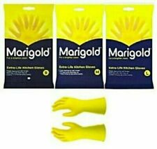Marigold Yellow Rubber Gloves Small Medium Large Washing Up Latex Lined