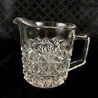 Glass Milk Jug Vintage Clear Class Small Creamer Mid Century Modern