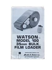 Watson Model 100 35mm Bulk Film Loader - Instruction for use
