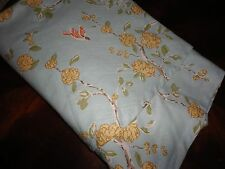 THRESHOLD BOTANICAL BIRDS FLORAL AQUA BLUE FLORAL ROUND TABLECLOTH  70""