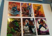 1992 Marvel Masterpieces Base Set 1-100 & 5 Chase Card