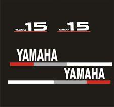 Adesivi motore marino fuoribordo Yamaha 15 hp  gommone barca