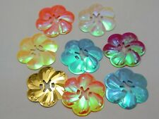 250 Mixed Color Flower loose sequins Paillettes 27mm sewing Wedding craft