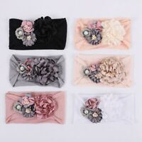 Kids Baby Girls Toddler 3D Flower Hair band Headband Stretch Turban Head Wrap