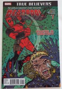 Nycc 2018 Deadpool #1 Deadpool Vs Sabretooth Signé Gerry Duggan
