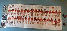 2011 Houston Texans Cheerleaders Poster + 3 Texans Football Cards & 2 Key Chains