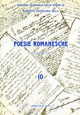 GIUSEPPE GIOCCHINO BELLI POESIA ROMANESCA LETTERATURA DIALETTALE ROMANISTICA