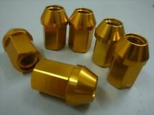 20 Tuner WHEELS RIMS LUG NUTS 12X1.25 OPEN END Gold 19 HEX 35mm