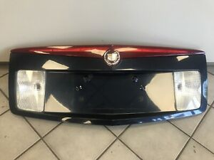 2003-2007 Cadillac CTS Trunk Panel License Plate Housing BLUE Pnt Code 722J