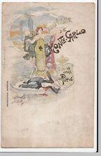Rare Anti King Albert Propaganda PPC Artist Decave, Souvenir De Monte Carlo 1