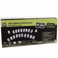 LED Lichterkette LED Lightbox 20er individuell beschriftbar 60 Buchstaben