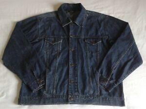 Mc Orvis Men's Denim Jacket Blue Size XXL Trucker Heavy Duty Classic Button Up