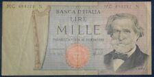 Italia 1000 lire giuseppe verdi 05-08-1975 p-101d serie mc vf (5129)
