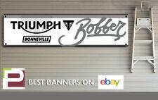 Triumph Bonneville Bobber Banner for Workshop, Garage, Man Cave, 1300mm x 325mm