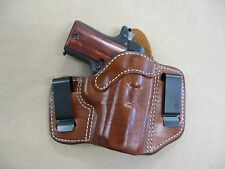Colt Mustang 380 Leather 2 Clip IWB Carry Concealment Holster CCW - TAN RH