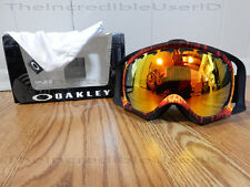 Oakley Crowbar Shockwave Fire Iridium Red Frames Lens Goggles Snowboard Ski RARE