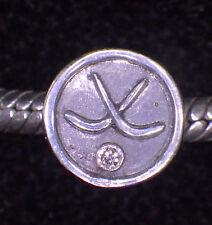 Unbranded 925 Sterling Silver HOCKEY MOM PUCK & STICKS EUROPEAN Bead Charm GIFT