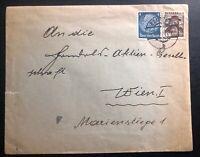 1938 Kautzen Germany Mixed Franking Cover To Vienna