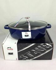 New Dark Blue Staub 4qt with Glass Lid