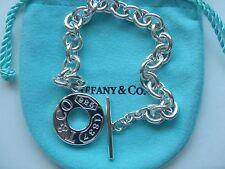 "Tiffany & Co. sterling silver Montage toggle bracelet 7"""