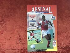 Arsenal v Chelsea 3 October 1992 Mint Condition Post Free