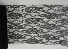 Lace Net on a Roll 30cm White  Ivory or Black  Runner Chair Balloon Ties TBSR601