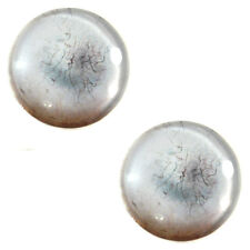 Pair of 25mm Milky White Scratch White Zombie Glass Eyes for Jewelry Making More